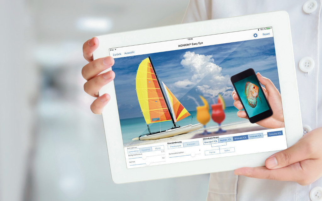 Neues Feature für IKONION® Easy Eye Tablet: Vision Simulator